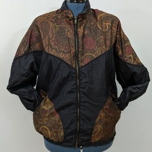 90s windbreaker with Paisley design